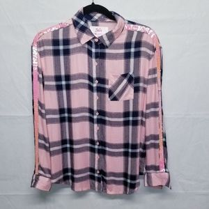NWT Justice Button down top 14/16